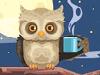 Night owl with coffee